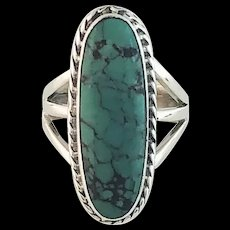 Navajo Sterling and Turquoise Ring by Alfred Joe