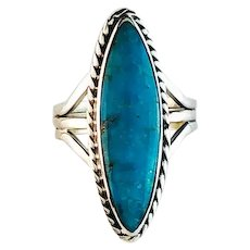 Sterling and Turquoise Ring by Navajo Terri Wood