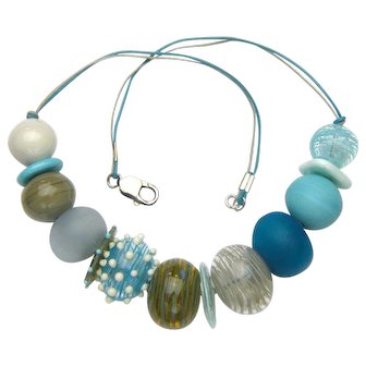 Stunning Hollow Glass Bead Necklace Handmade in Our Artisan Workshop