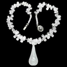 Delicate Blue Quartz Briolette Necklace