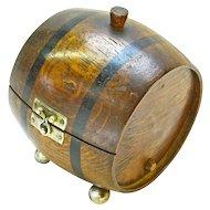 Barrel Cigarette Humidor, Ca. 1920