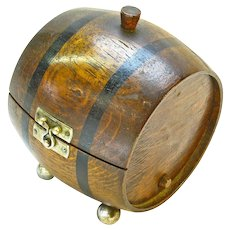Barrel Cigarette Humidor, Ca. 1920