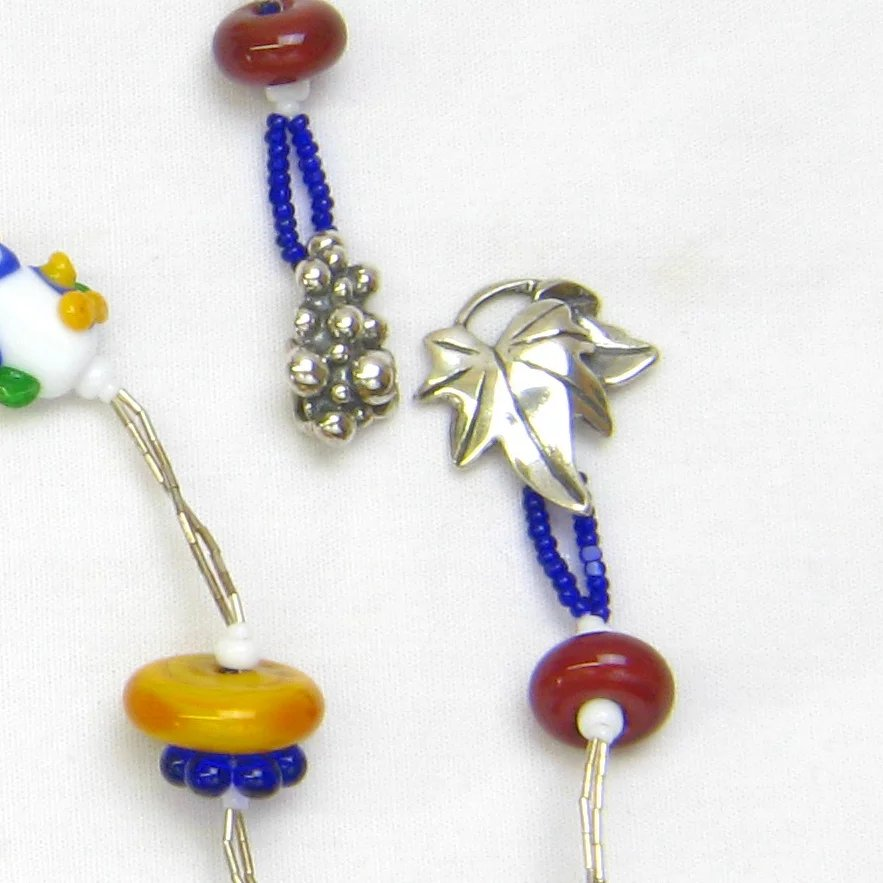 Charming Lampwork Necklace and Earrings in the Colors of ...