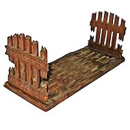 Black Forest Carved Expanding Book Rack w/Gate Design