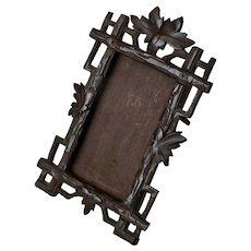 Black Forest Hand Carved Tabletop Picture Frame