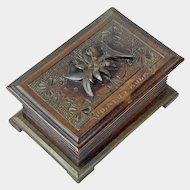 Black Forest Desk Box, Souvenir of Pilatus-Kulm, Ca. 1900