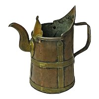 Arts and Crafts Style Copper and Brass Hand Made Pitcher