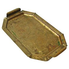 Acid Etched Copper Arts and Crafts Tray, Carence Crafters