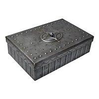 Hammered Iron Desk Box Cigar Box, Goberg Signed, 1910