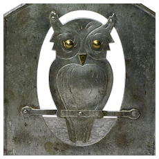 Make an Offer! A Pair of Signed Goberg Hammered Iron Owl Bookends