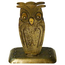 Goberg Hand Hammered Jugendstil Owl Match Box Holder, Germany