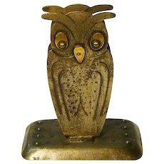 Goberg Hand Hammered Jugendstil Owl Match Box Holder, Germany