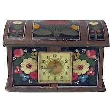 Norwegian Skrin with Clock, Os Painted Rosemaling