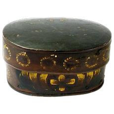 Swedish Svepask Painted in the Kurbits Style, Ca. 1820