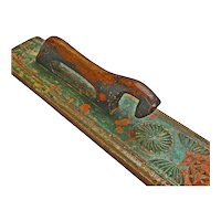 Scandinavian Carved Painted Mangle Board, Early 1800's