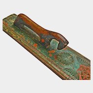 Scandinavian Carved Painted Mangle Board (Smoothing Board), Early 1800's