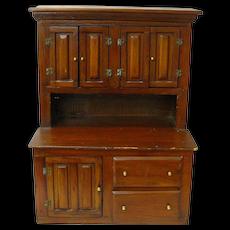 Home Built Miniature Step Back Doll Cupboard, Ca. 1900-1920