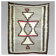 Regional Navajo Weaving / Rug, 1910's, Wonderful Graphics