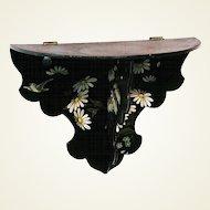 Papier Mache Floral Decorated Folding Shelf, Victorian Era