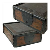 Spice Box with Sliding Lid, Lock, signed Joh Roos, 1804