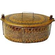 Grain Painted Norwegian Bentwood Box, Tine, , Ca. 1880-1900
