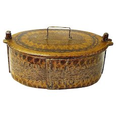 Grain Painted Norwegian Bentwood Box, Tine, , Ca. 1880-1900