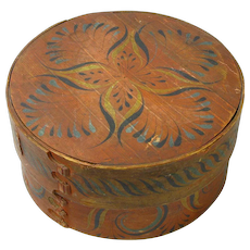 Norwegian Viksdal Painted Large Pantry Box, Ca. 1880