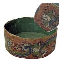 Early Telemark Rosemaling Painted Pantry Box