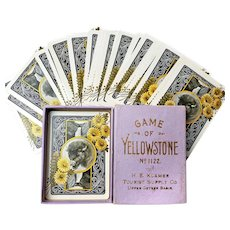 Yellowstone National Park Card Game, Cincinnati Game Co., As New, 1895