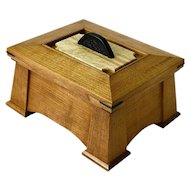 Mission Style Quartersawn Black Cherry Jewelry Dresser Box, Artisan Crafted