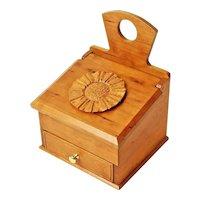 Curly Cherry Keepsake Salt Box with Drawer
