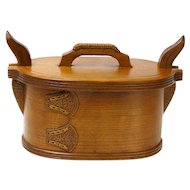 Fumed Carved Quartersawn Cherry Norwegian Style Tine, Sweetpea Cottage Crafted