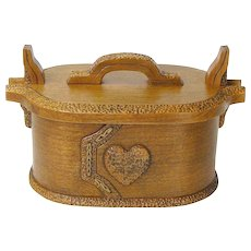 Norwegian Style Hand Made Cherry Bent Wood Tine, Bride's Box