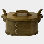 Fumed Quartersawn White Oak Norwegian Style Bentwood Box,  Artisan Crafted