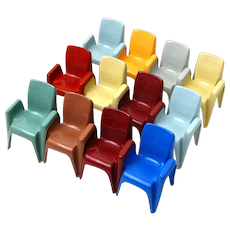 Set of 12 Miniature Sebel Integra Mark 2 Chairs, Australia, Ca 1980