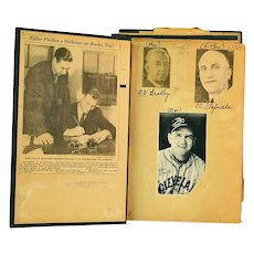 Bob Feller Scrap Book, 1937 - 1938, Cleveland Indians Early Career, Hall of Fame Pitcher