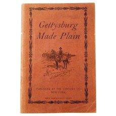 """Civil War Ephemera, """"Gettysburg Made Plain"""",  by Abner Doubleday, 1909"""