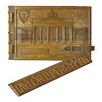 Carved Wooden World War II Memorial Scrapbook, Brandenburg Gate, 1948