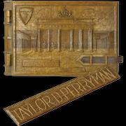 Carved World War II Memorial Scrapbook, Berlin, Brandenburg Gate, 1948