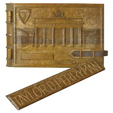 Carved World War II Memorial Scrapbook, Berlin, Brandenburg Gate, 1948