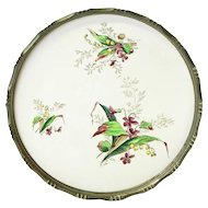 Large Floral Decorated Ceramic Tray from Germany