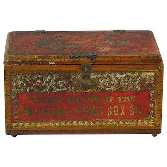 Salesman Sample Michigan Cigar Box Company, Ca. 1895