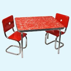 Doll Miniature Chrome Dinette Set, Molly's Table and Chairs