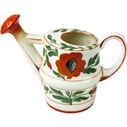 Erphila Art Pottery Hand Painted Watering Can, Czecho Slovakia, Ca. 1918