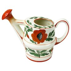 Erphila Art Pottery Hand Painted Watering Can, Czecho Slovakia, Ca. 1918