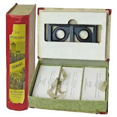 Complete German Set of 168 Stereoviews of Pre- and Post-War Germany with Stereoscope, Original Box