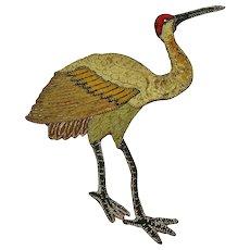Victorian Heron  Applique, Textile