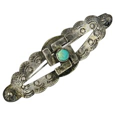 Silver Pawn Whirling Log Brooch, Pre-1940's