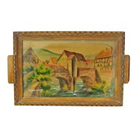 Kaysersberg (Kaisersberg) Decorative Painted French Souvenir Tray