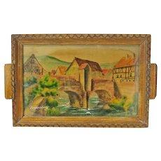 Kaysersberg (Kaisersberg) Decorative Painted French Souvenir Tray